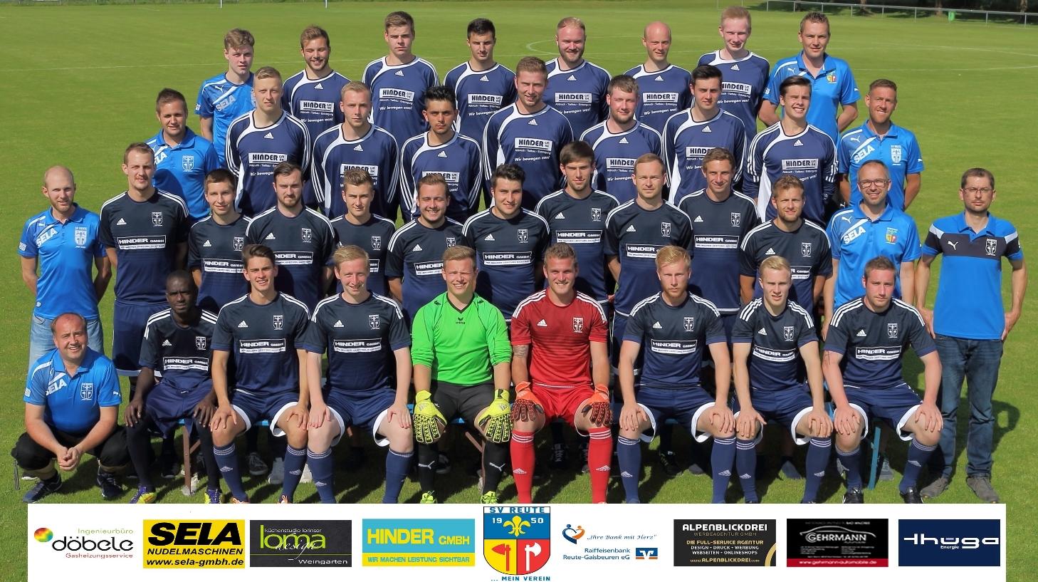 Mannschaftsfoto 2016-2017 mit Sponsorenlogo (unten)